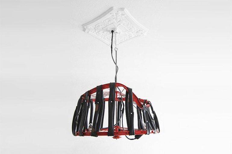 Berlin bike Lamp โคมไฟ D.I.Y จากขยะล้อจักรยาน 13 - DIY