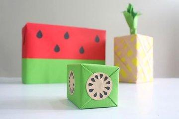 DIY: เปลี่ยนกล่องของขวัญธรรมดาให้หน้าตาเหมือนผลไม้ 12 - DIY