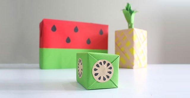 DIY: เปลี่ยนกล่องของขวัญธรรมดาให้หน้าตาเหมือนผลไม้ 19 - DIY