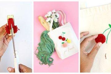 DIY: จ่ายตลาดอย่างสนุก ด้วยถุงผ้าผลไม้จากปอมปอมไหมพรม 26 - DIY