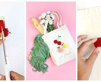 DIY: จ่ายตลาดอย่างสนุก ด้วยถุงผ้าผลไม้จากปอมปอมไหมพรม 16 - กระเป๋า