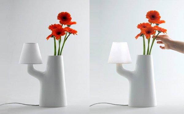 แจกันโคมไฟ...ใช้การสัมผัสดอกไม้ เป็นสวิตช์เปิด-ปิด 13 - Lamp