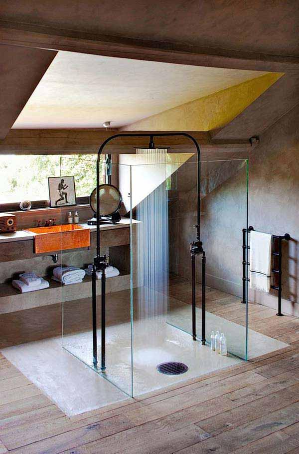 rustic bathroom ideas 16 30 ห้องน้ำที่ไม่ซ้ำบ้านไหนๆ แขกไปใครมาจำได้แน่นอน