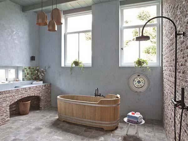 rustic bathroom ideas 26 30 ห้องน้ำที่ไม่ซ้ำบ้านไหนๆ แขกไปใครมาจำได้แน่นอน