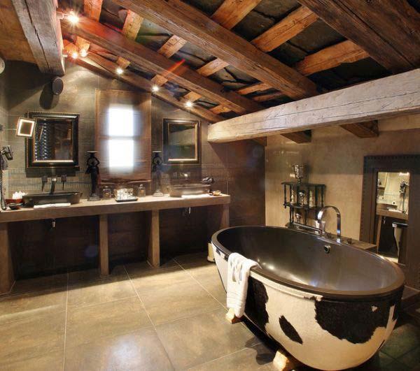 rustic bathroom ideas 29 30 ห้องน้ำที่ไม่ซ้ำบ้านไหนๆ แขกไปใครมาจำได้แน่นอน