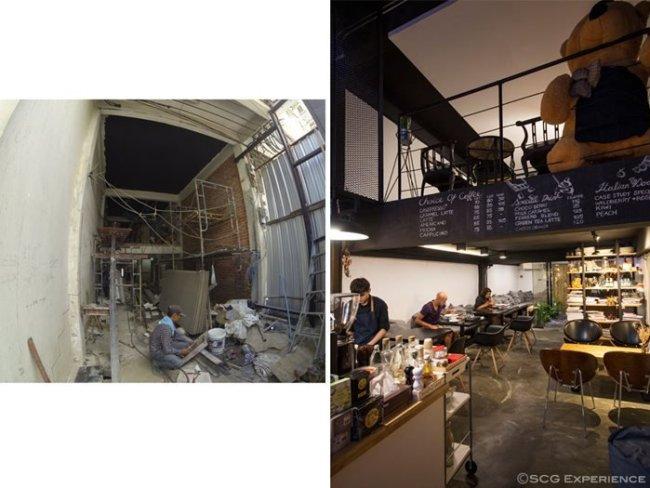 scg renovate coffee cafe5 650x488 รีโนเวทตึกแถวเก่า ให้เป็นร้านกาแฟ CASE STUDY COFFEE & EATERY