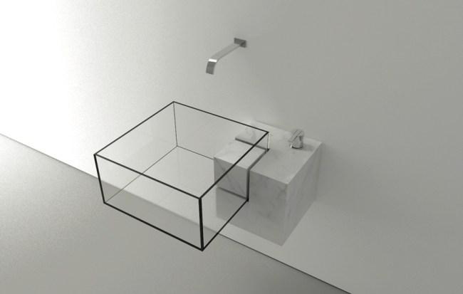 8 Square glass basin 650x413 15 อ่างล้างหน้าดีไซน์เก๋ที่สุดเท่าที่เคยมีมา
