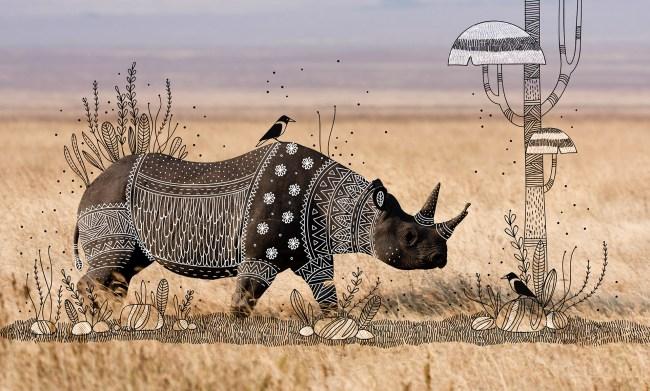 b6fef936918461.572f21253295d 650x391 ภาพสัตว์เดิมๆ เพิ่มเติมคือรอยยิ้ม งานวาดเล่นของ Rohan Sharad Dahotre