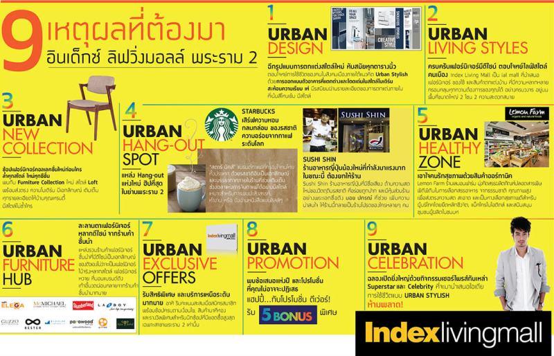 "Index Living Mall พระราม 2 เปิดใหม่ไม่ใช่แค่ ""ร้านเฟอร์นิเจอร์"" แต่เป็น ""Lifestyle Destination"" แนว URBAN STYLISH 19 - Index Living Mall (อินเด็กซ์ ลิฟวิ่งมอลล์)"
