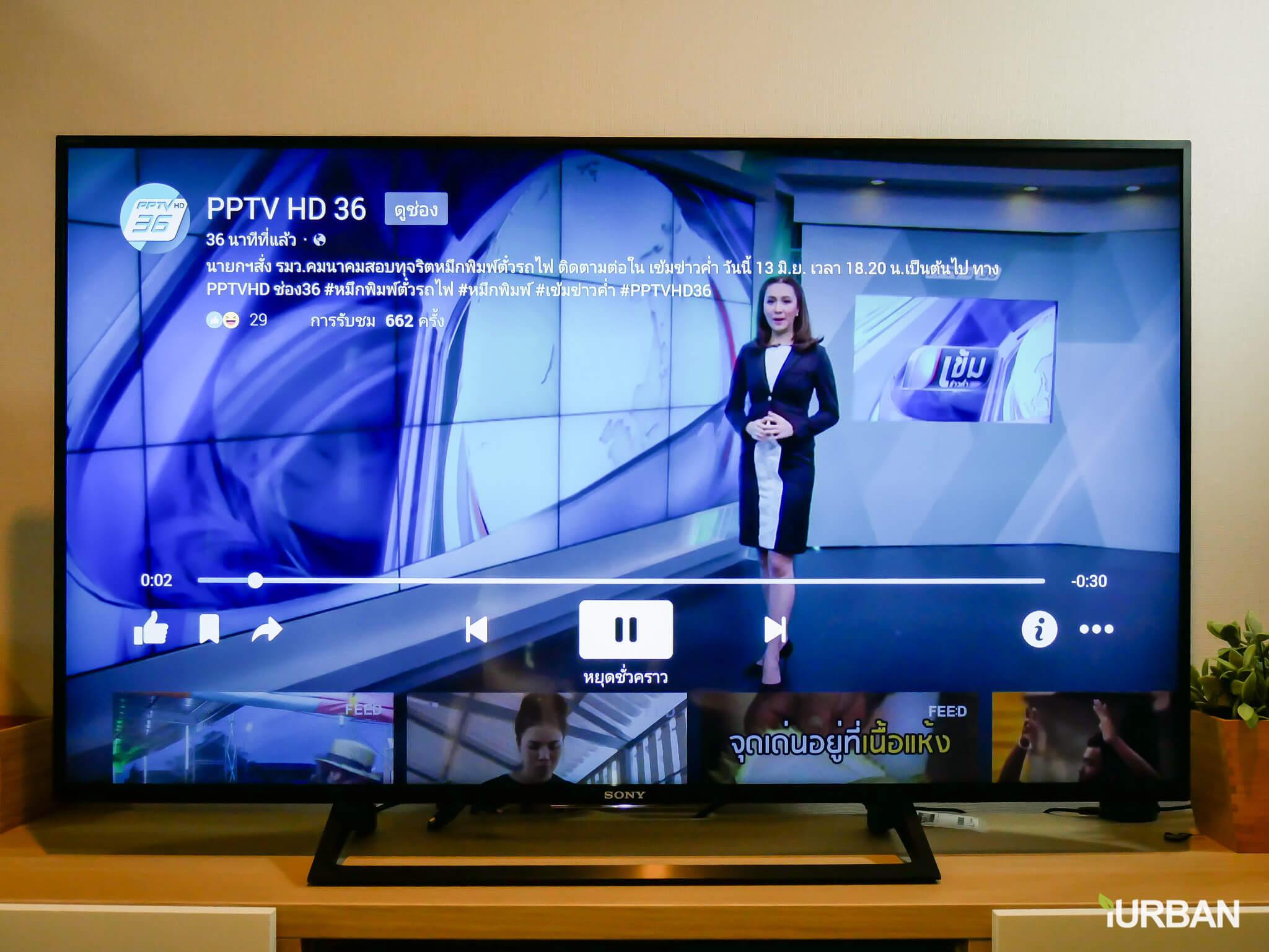 รีวิว SONY Android TV รุ่น X8000E งบ 26,990 แต่สเปค 4K HDR เชื่อมโลก Social กับทีวีอย่างสมบูรณ์แบบ 65 - Android