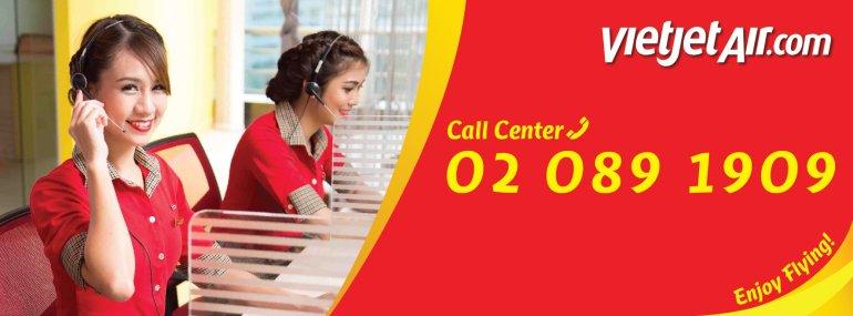 สายการบินไทยเวียตเจ็ท ให้บริการ Call Center หมายเลขใหม่ 02-089-1909 13 -