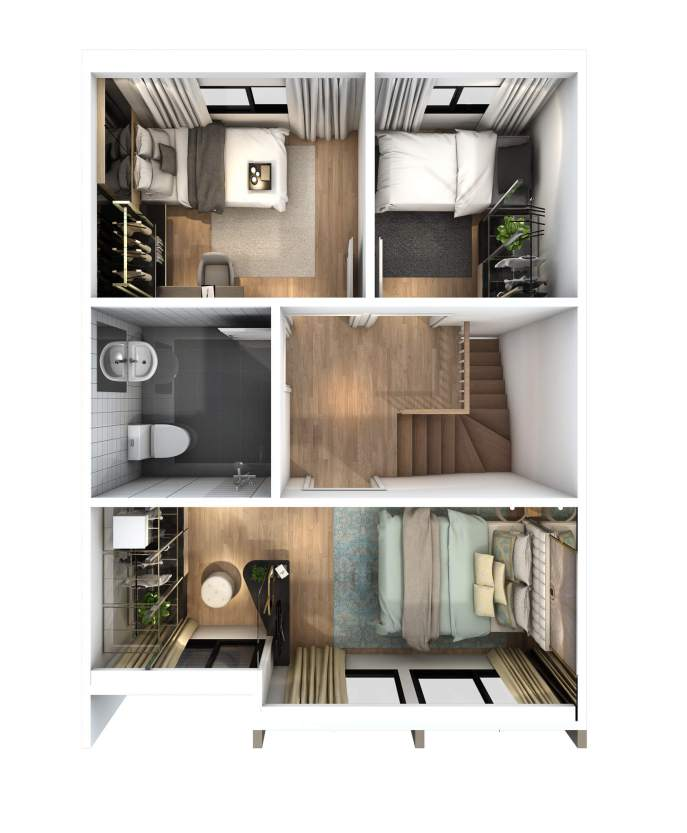 2560-5-25 Pleno Ratchapruek - 17.5 wa Floor Plan - 2F(M)