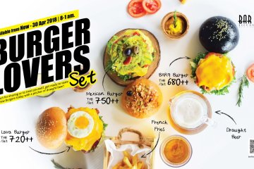 Burger Lovers with a View at BAR9 Beer Garden!