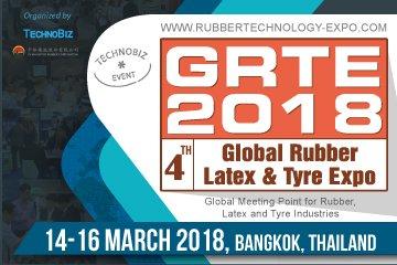"""งานแสดงสินค้าด้านยาง น้ำยาง และยางล้อ ครั้งที่ 4 """"GRTE 2018"""" วันที่ 14-16 มีนาคม 2561 ณ ไบเทค 13 -"""