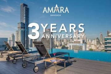 ฉลองครบรอบ 3 ปีโรงแรมอัมรา กรุงเทพ มอบส่วนลดห้องพัก 33% พร้อมสิทธิพิเศษต่างๆ อีกมากมาย