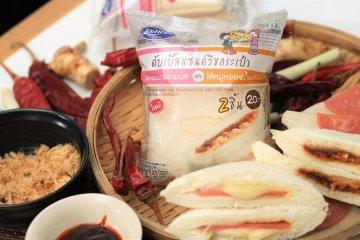 เลอแปงดับเบิ้ลแซนด์วิชกระเป๋า ไส้แฮมมายองเนส และไส้หมูหยองน้ำพริกเผา 8 -