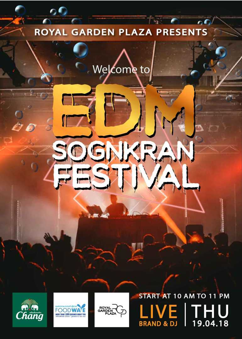 EDM Songkran Festival 2018 at Royal Garden Plaza Pattaya 13 -