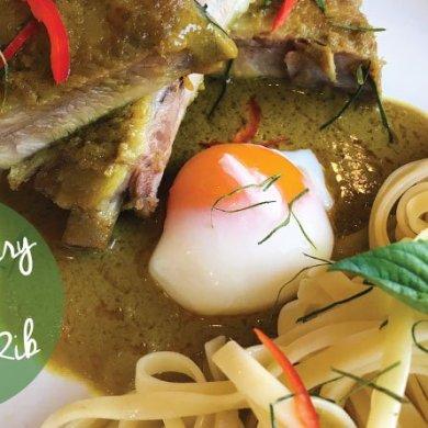 ซี่โครงหมูซอสแกงเขียวหวานไข่ออนเซ็น @ Vivanda Cuisine, Best Western Plus Wanda Grand Hotel 15 -