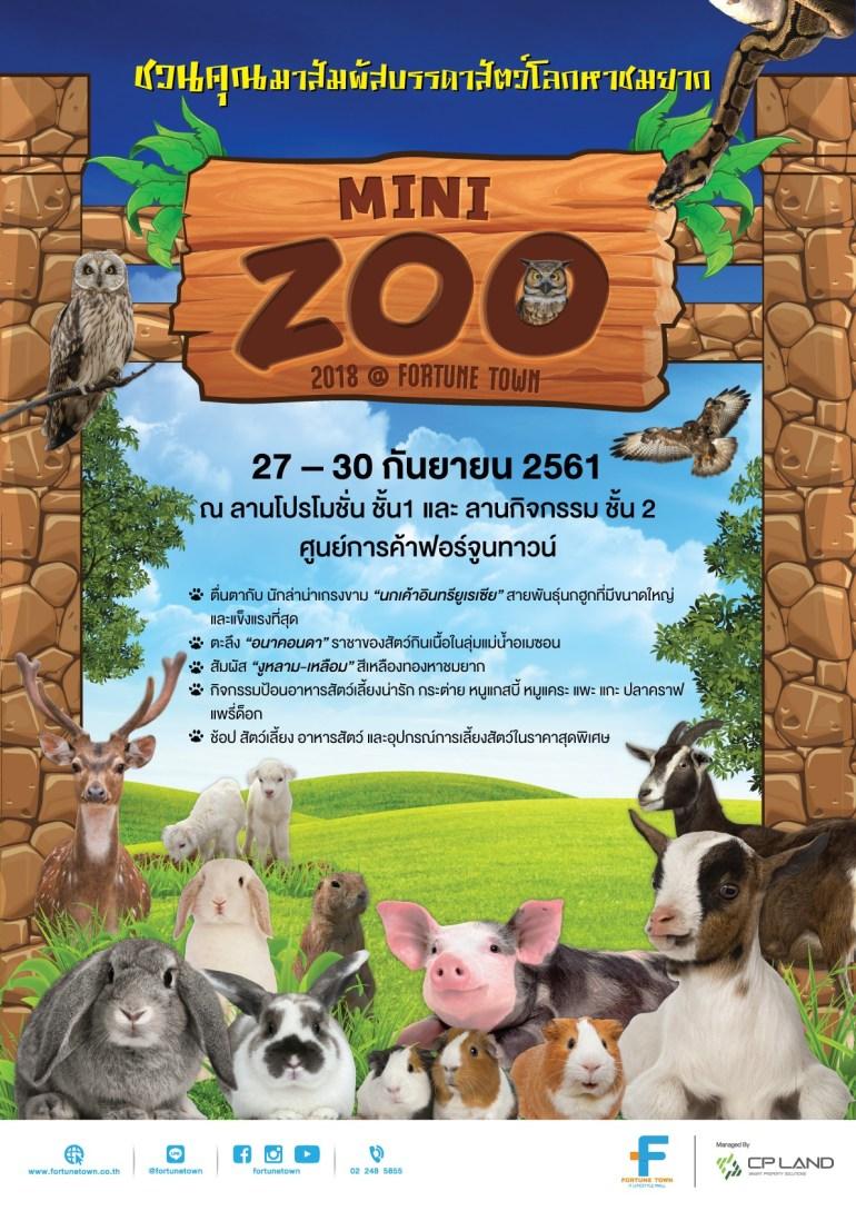 """เชิญชมสัตว์โลกน่ารักงาน """"Mini Zoo 2018 @ Fortune Town"""" ที่เหล่าคนรักสัตว์ต้องห้ามพลาด 13 -"""