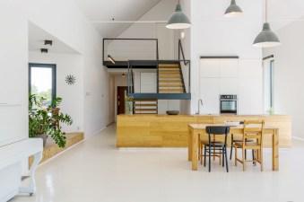 Open kitchen in modern house