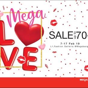 """เติมความรักให้กัน ต้อนรับเทศกาลวาเลนไทน์  ในงาน """"เมกา เลิฟ เซลล์"""" (Mega Love Sale) ลดสูงสุดถึง 70%  ระหว่างวันที่ 7 – 17 กุมภาพันธ์ 2562 15 - Mega Love Sale"""