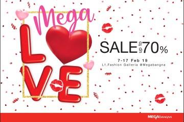 """เติมความรักให้กัน ต้อนรับเทศกาลวาเลนไทน์  ในงาน """"เมกา เลิฟ เซลล์"""" (Mega Love Sale) ลดสูงสุดถึง 70%  ระหว่างวันที่ 7 – 17 กุมภาพันธ์ 2562 12 - Mega Love Sale"""