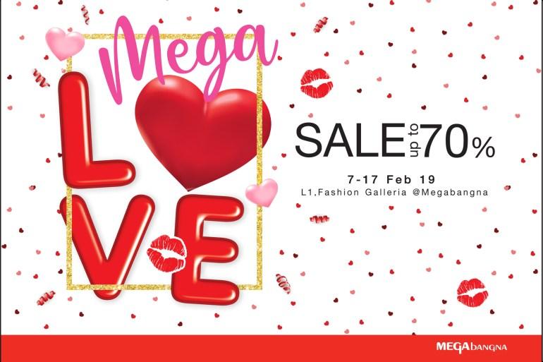 """เติมความรักให้กัน ต้อนรับเทศกาลวาเลนไทน์  ในงาน """"เมกา เลิฟ เซลล์"""" (Mega Love Sale) ลดสูงสุดถึง 70%  ระหว่างวันที่ 7 – 17 กุมภาพันธ์ 2562 16 - Megabangna (เมกาบางนา)"""