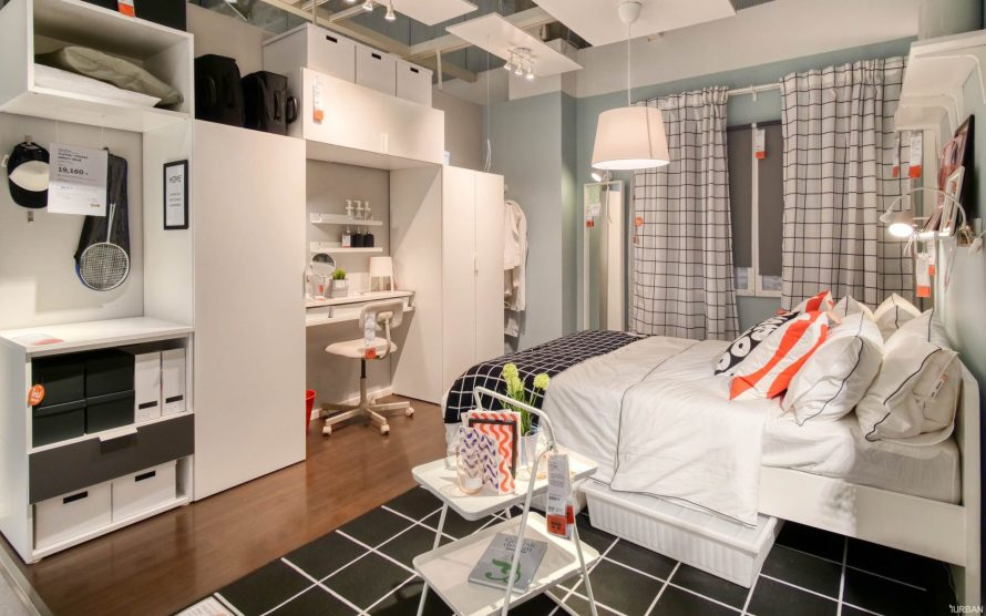 """9 วิธีจัดห้องเก่าให้เหมือนใหม่ ลอกวิธีจัดห้องในพื้นที่เล็ก """"Small Space"""" แบบ IKEA 22 - Bedroom"""