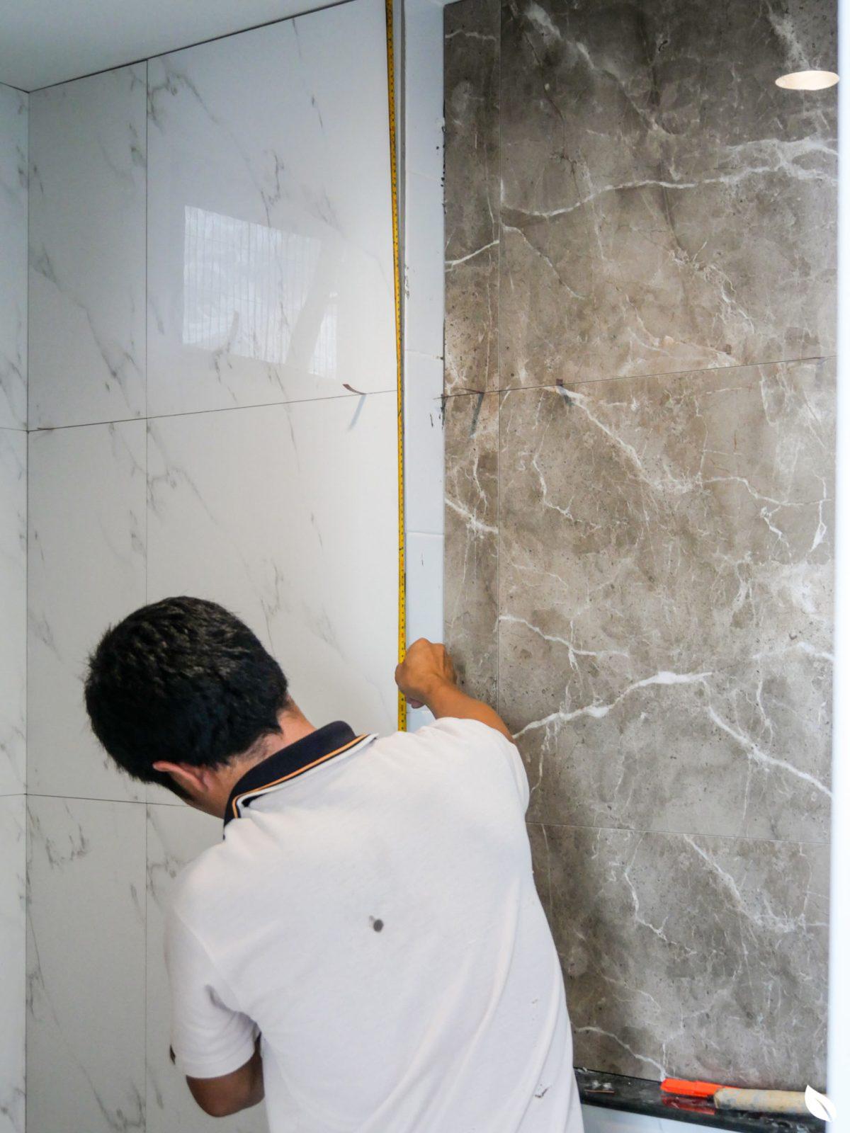 """4 ขั้นตอน """"รีโนเวทห้องน้ำขนาดเล็ก"""" ให้สวยใหม่ จบงานไวใน 2 วัน แบบปูกระเบื้องทับ ไม่ต้องรื้อ 55 - bathroom"""