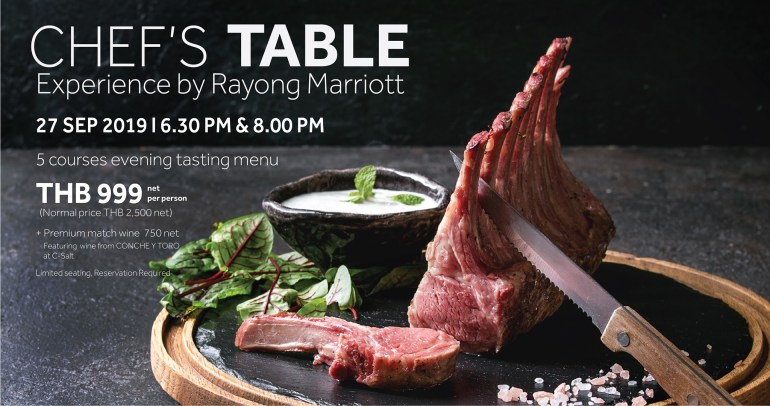 CHEF'S TABLE EXPERIENCE BY RAYONG MARRIOTT 13 -