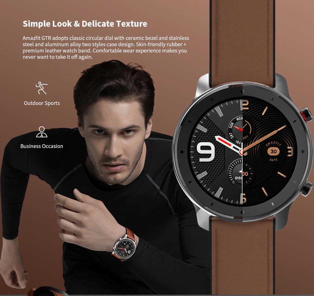 "Amazfit GTR : Smart Watch หน้าปัทม์จอ AMOLED ""วัดหัวใจบันทึกชีพจรและจำนวนก้าวตลอดเวลา"" แบตอึดสุด 24 วัน! 31 - Highlight"