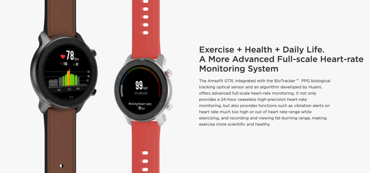"Amazfit GTR : Smart Watch หน้าปัทม์จอ AMOLED ""วัดหัวใจบันทึกชีพจรและจำนวนก้าวตลอดเวลา"" แบตอึดสุด 24 วัน! 28 - Highlight"