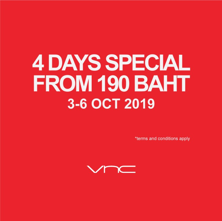 VNC 4 Days Special! From 190 Baht (3-6 Oct 2019) 13 -