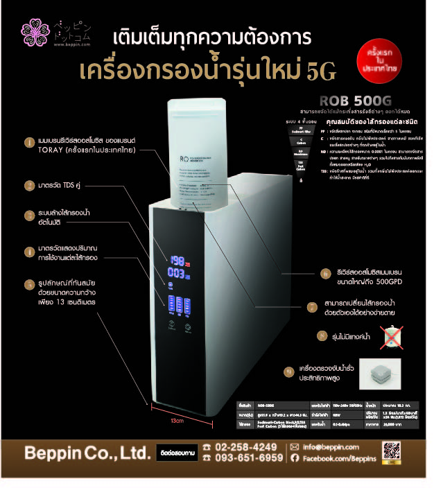 ครั้งแรกในไทยกับเครื่องกรองน้ำนวัตกรรมใหม่ยุค 5G หรือ ROB500G จากประเทศญี่ปุ่น 13 -