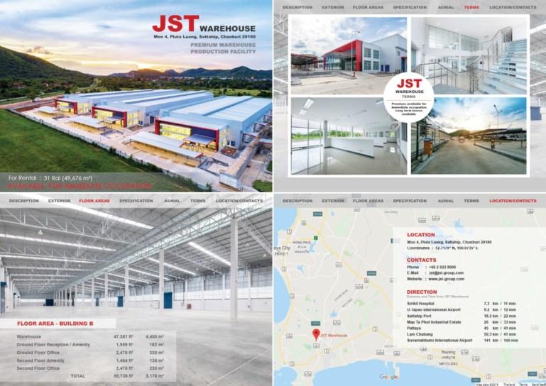 JST ทุ่มเงินลงทุนกว่า 500 ล้าน จับธุรกิจอสังหาริมทรัพย์สร้างโกดังสินค้าขนาดใหญ่ในพื้นที่ฝั่งตะวันออก 13 -