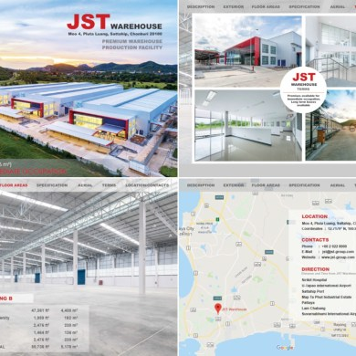 JST ทุ่มเงินลงทุนกว่า 500 ล้าน จับธุรกิจอสังหาริมทรัพย์สร้างโกดังสินค้าขนาดใหญ่ในพื้นที่ฝั่งตะวันออก 14 -