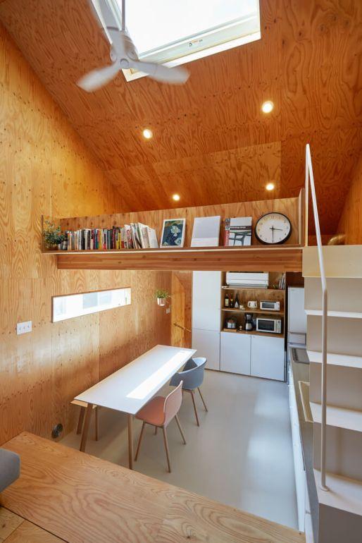 บ้านกล่องนม Milk Carton House ณ Tokyo หน้ากว้างเพียง 3.5 เมตร แต่สเปซภายในครบครัน 17 - Akihide MISHIMA