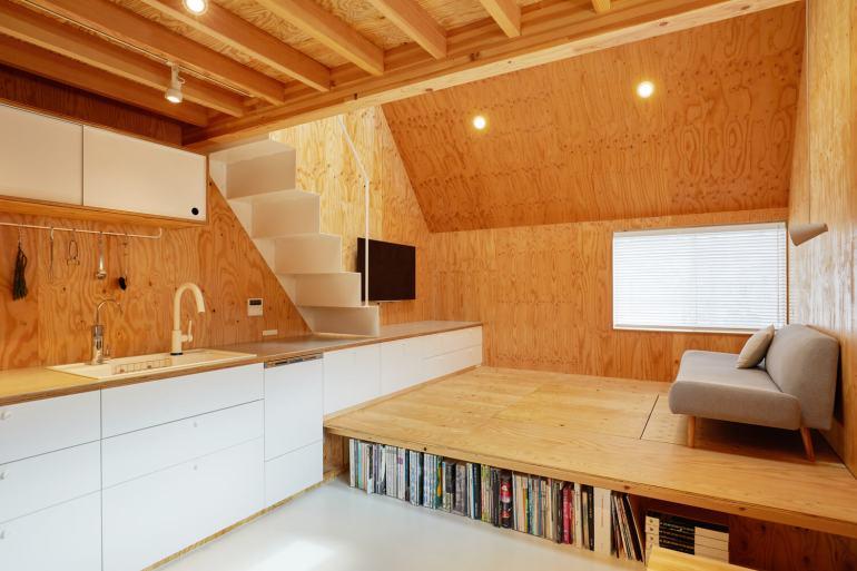 บ้านกล่องนม Milk Carton House ณ Tokyo หน้ากว้างเพียง 3.5 เมตร แต่สเปซภายในครบครัน 31 - Akihide MISHIMA