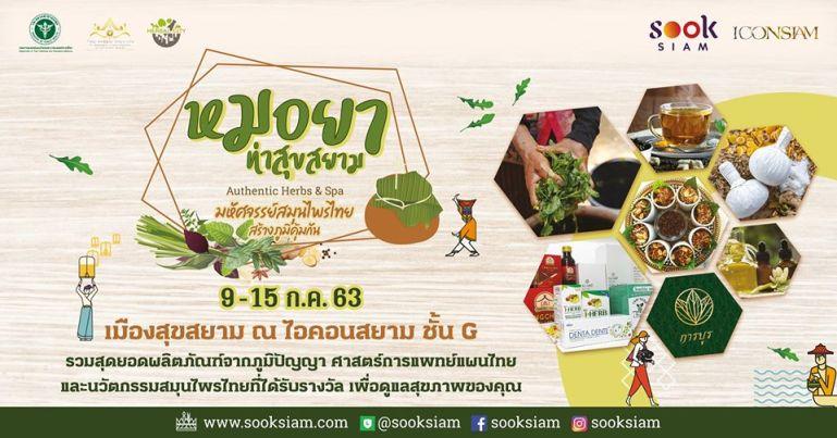 """""""เมืองสุขสยาม"""" จัดงาน """"หมอยา ท่าสุขสยาม"""" มหัศจรรย์สมุนไพรไทย สร้างภูมิคุ้มกัน ยกระดับผลิตภัณฑ์สมุนไพรไทยสู่สากล 13 -"""