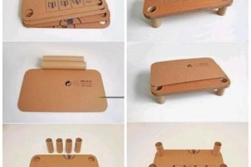 DIY โต๊ะสำหรับเด็กจากกระดาษกล่องรีไซเคิล 16 - cardboard