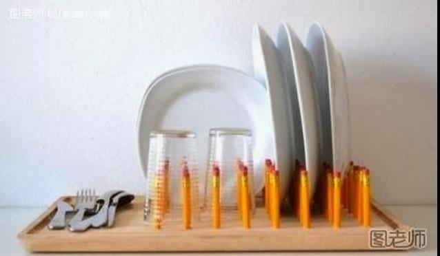 DIY ที่วางจานจากดินสอ และเขียง 13 -