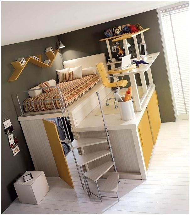 ไอเดียสำหรับห้องนอนขนาดเล็ก 13 -