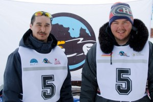 "5 - Racer: Sandy Annahatak Jaaka <br>  Partner: Peter ""Puulik"" Qisiiq <br>  Community: Kangirsujuaq"