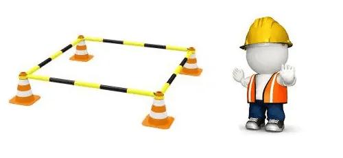 La importancia de señalizar y delimitar un área de trabajo