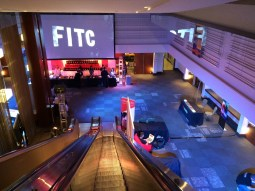 The entrance to FITC Toronto 2015 at the Hilton downtown.