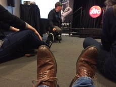 Sitting room only during Shawn Pucknell's talk at FITC Toronto 2015