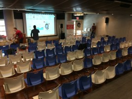 Empty seats before the event started