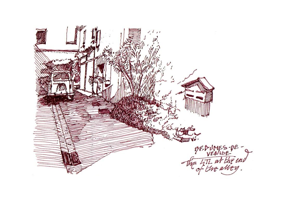 urban sketch Renault 4TL