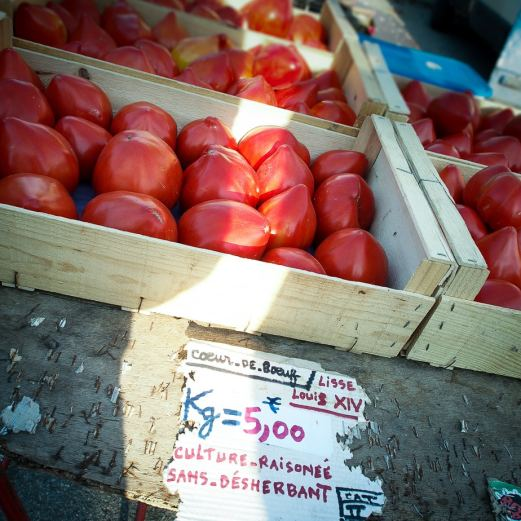 tomatoes on the market