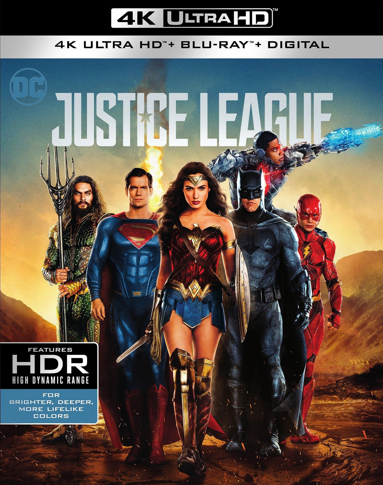 Justice League 4K HDR Blu-ray